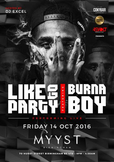 BurnaBoy Taking Over Birmingham this Friday 14 and London 16th