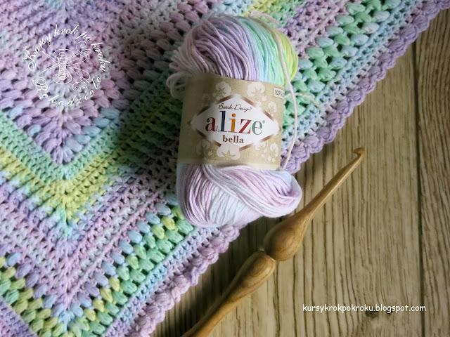 Recenzja włóczki Alize Bella Batik - chusta dla dzieci, szydełkowe DIY