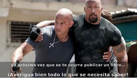 Vin Diesel y la Roca luego de haber publicado un libro