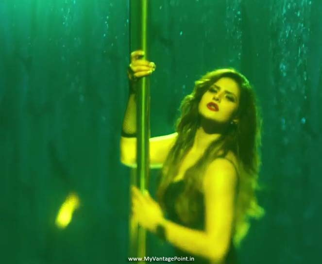 Zareen Khan pole dance, Zareen Khan in latex, Zareen Khan hot dance stills