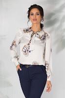 bluza office eleganta imprimeuri diverse