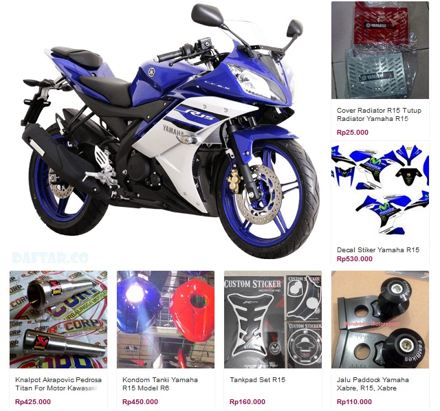 Yamaha R15 Spare part