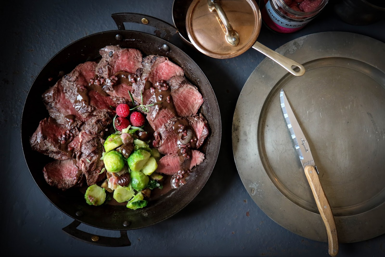2 Dinner Date Recipes: Venison with Raspberry And Bitter Chocolate Sauce And A Boozy Berries Trifle