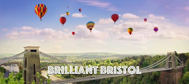Hot air balloons over the Clifton Suspension Bridge