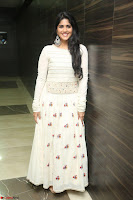 Megha Akash in beautiful White Anarkali Dress at Pre release function of Movie LIE ~ Celebrities Galleries 057.JPG