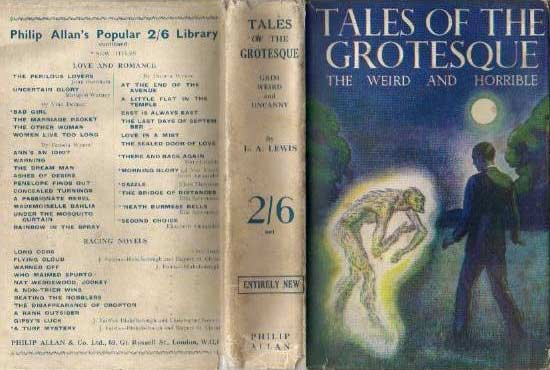 Tales of the Grotesque: A Collection of Uneasy Tales, 1934, copertina