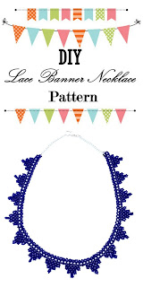 Free pattern and tutorial on how to make a seed bead lace banner jewelry necklace