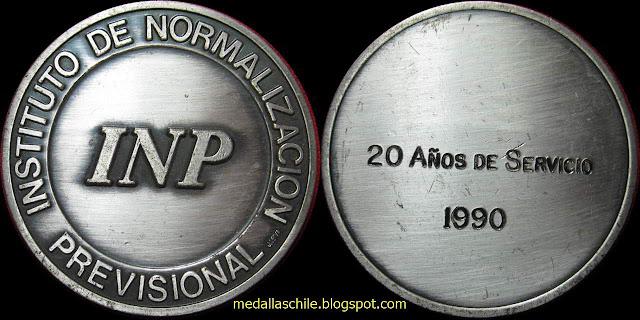 Medalla INP Años de Servicios