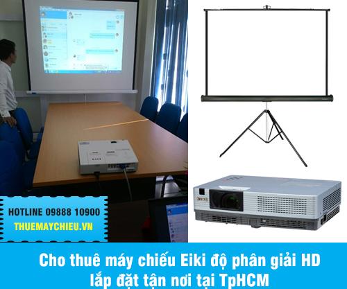 Cho thuê máy chiếu Eiki độ phân giải HD lắp đặt tại TpHCM