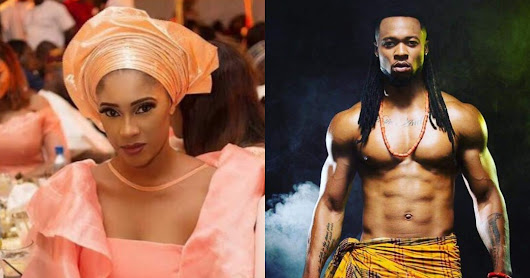 Ex-Beauty Queen, Sandra Okagbue removes Flavour's tattoo as the singer reunites with second babymama