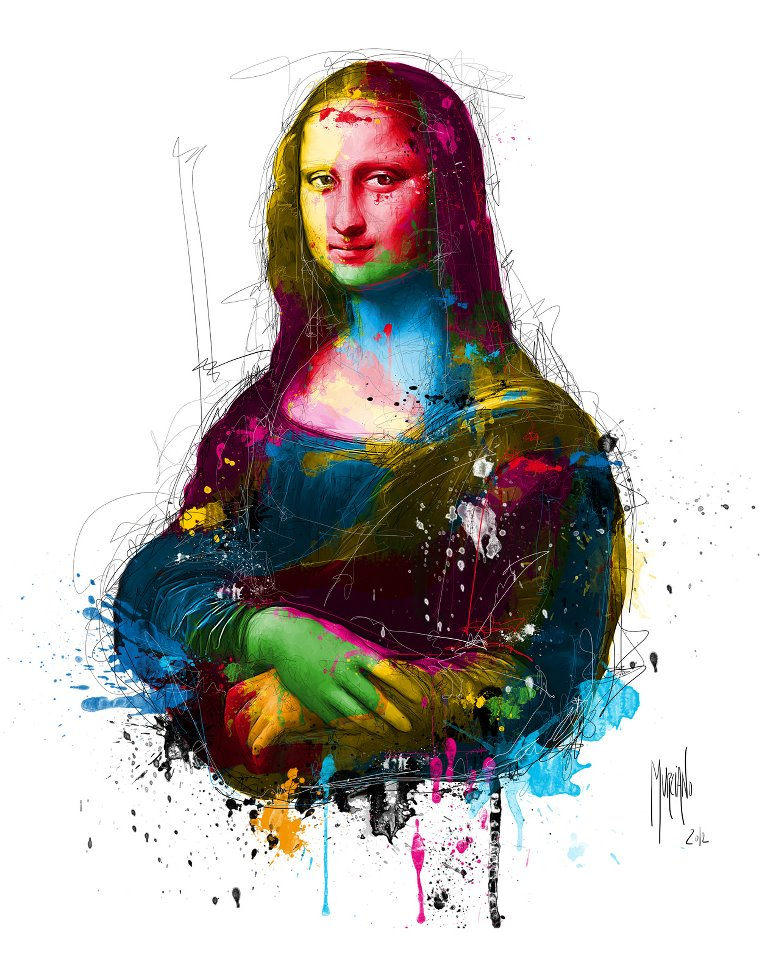Mona Lisa Pop | Patrice Murciano 1969 | French Figurative painter | Pop Art portrait