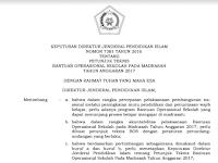 Juknis BOS Madrasah 2017 PDF Resmi Dirjen Pendidikan Islam