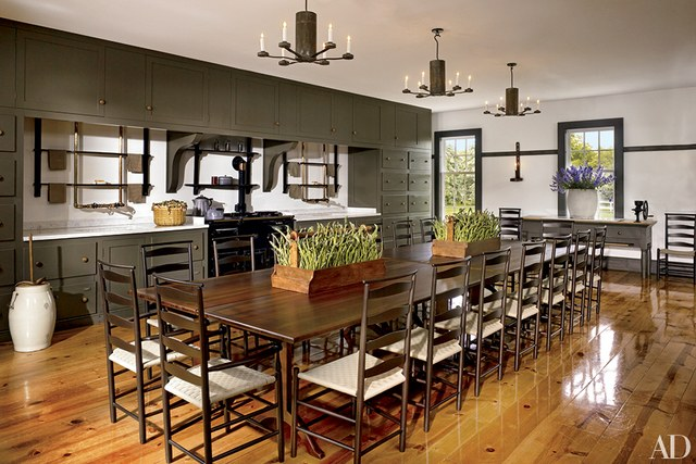 Farmhouse home decor 25 farmhouse kitchens in for Modern barn kitchen