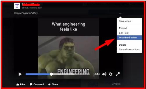 saving videos from facebook