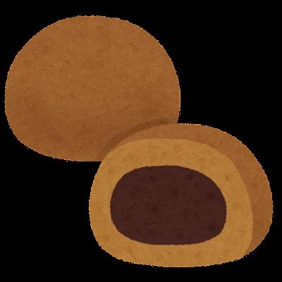 茶饅頭のイラスト