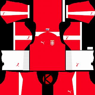 Serbia 2018 World Cup Kit - Dream League Soccer Kits