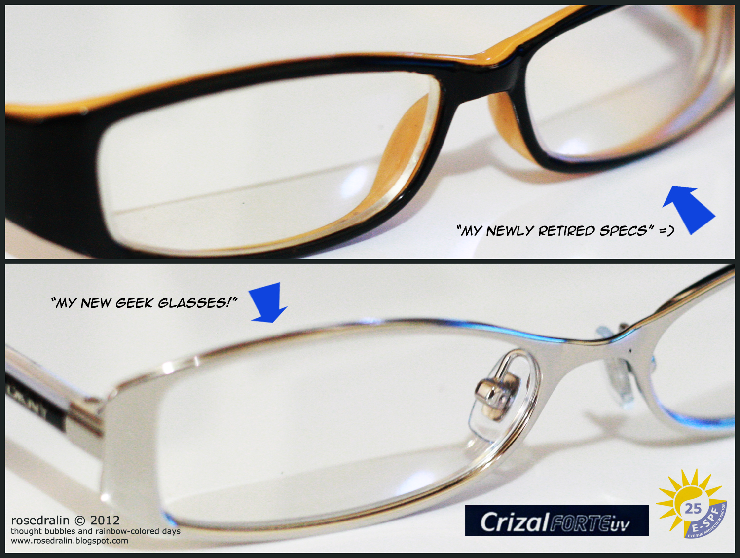 Essilor Crizal Forte UV Lens Review   thought bubbles and rainbow ... f83b52fbfcc4