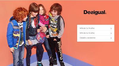 moda infantil de la marca Desigual en oferta