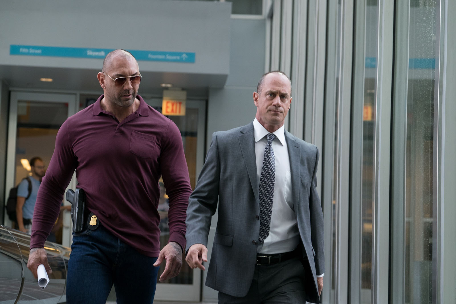 Dave Bautista and Christopher Melonin in MARAUDERS