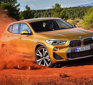 BMW-X2 in rough terrain