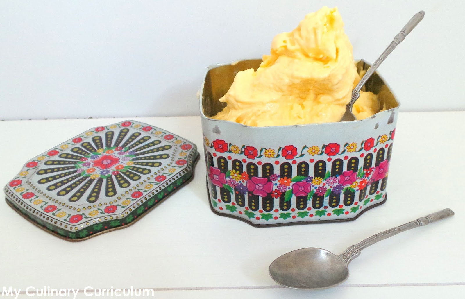 my culinary curriculum  glace mangue et yaourt  mango and