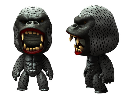 I donu0027t know about you guys but I would run away if I saw a gorilla like this one running towards me!  sc 1 st  My LittleBIGPlanet Everything! & My LittleBIGPlanet Everything!: Sackboys and Sackgirls of the Week ...