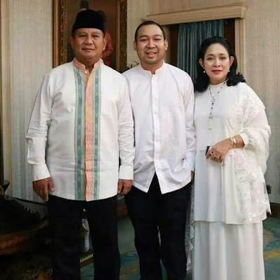 Didit prabowo dengan Prabowo Soebianto dan Titiek Suharto