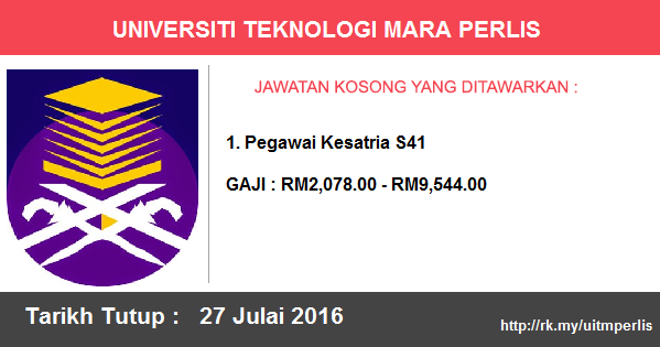 Job in Universiti Teknologi MARA (UiTM) Perlis