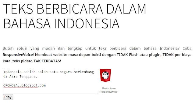 Text to Speech dalam Bahasa Indonesia Gratis