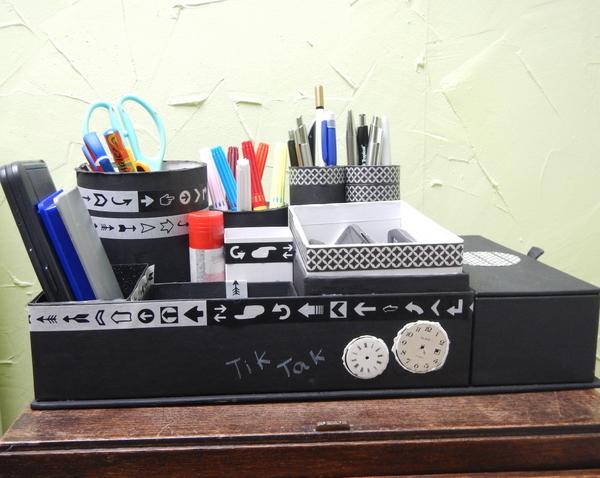 Organizer DIY z pudełek