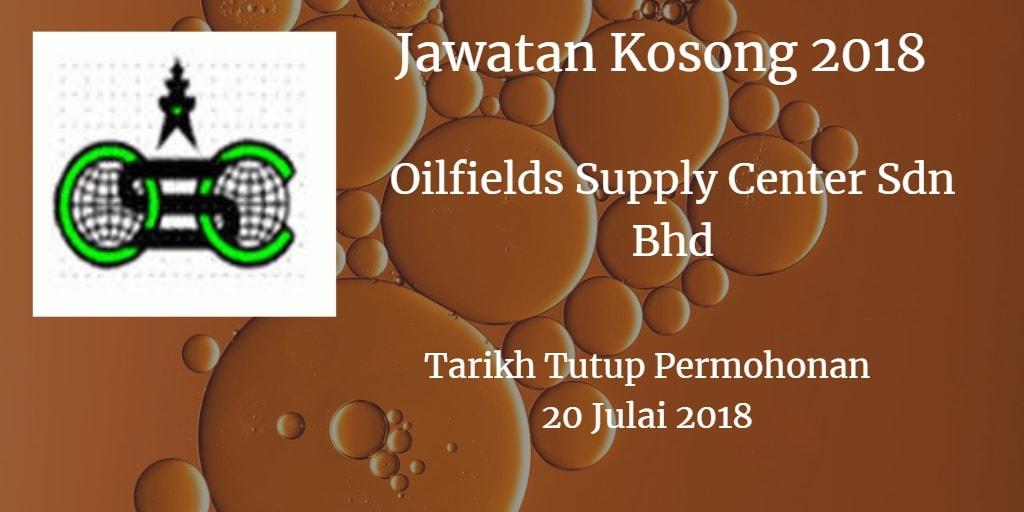 Jawatan Kosong OILFIELD SUPPLY CENTRE SDN BHD 20 Julai 2018