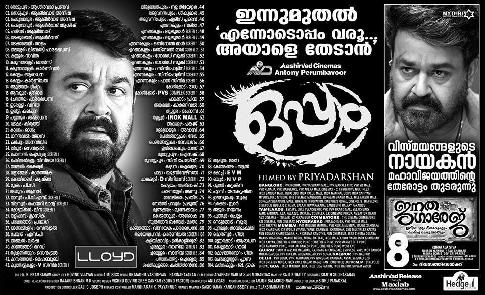 Oppam Theater List