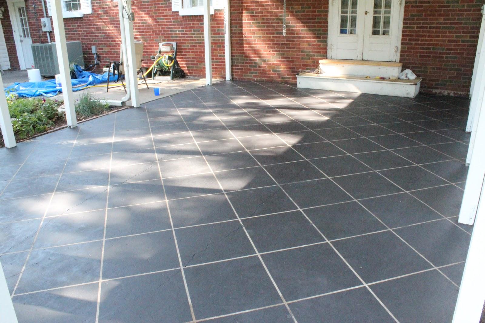 Naptime DIY: Patio Concrete Stain