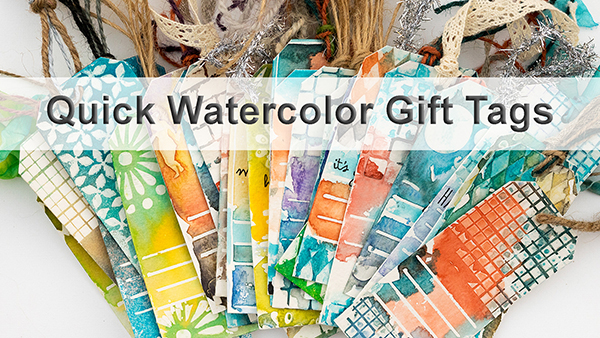 Layers of ink - Quick Watercolor Gift Tags Skillshare Class by Anna-Karin