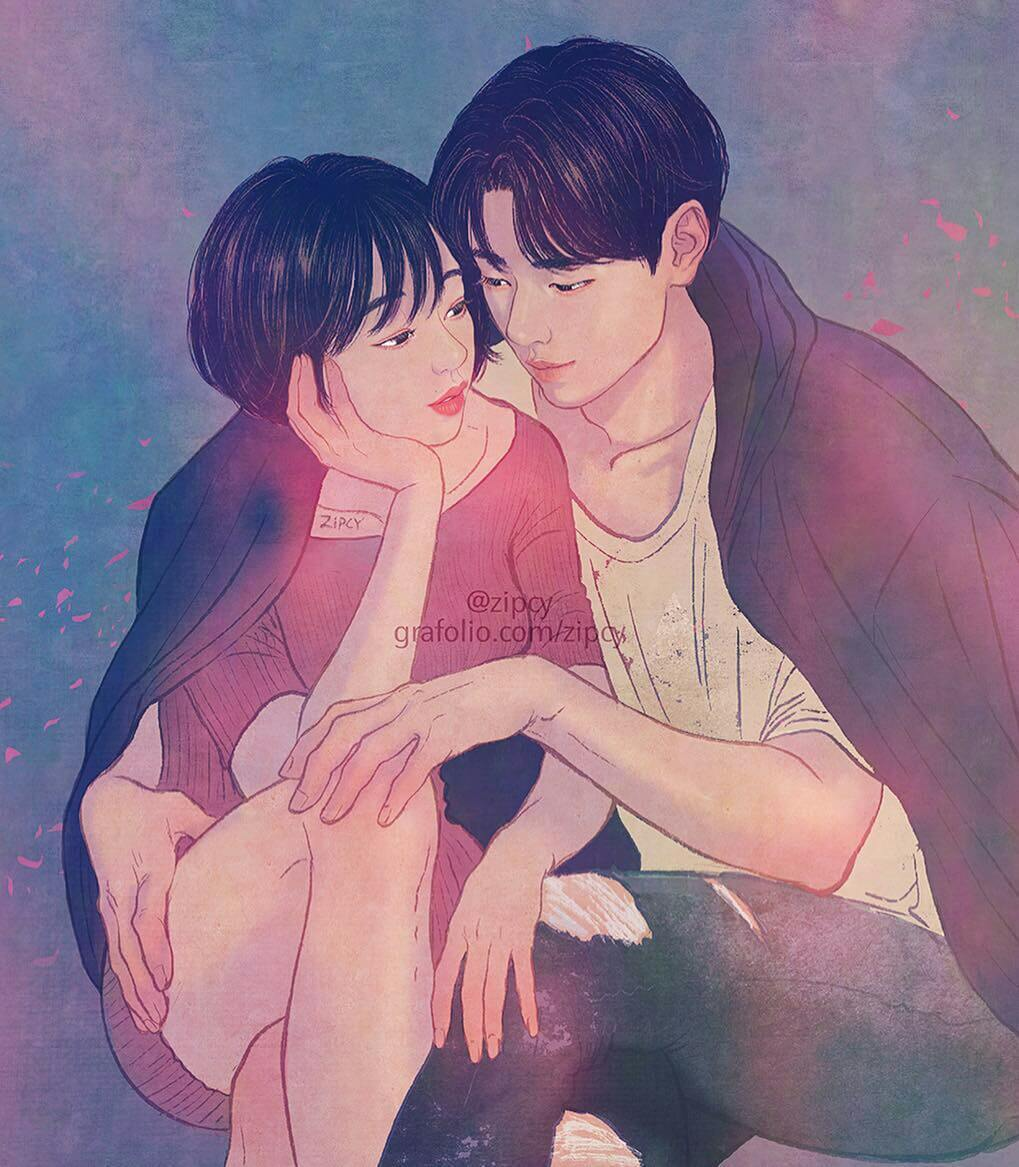 32 Intense Illustrations By Korean Artist Highlight The Tenderness In A Romantic Relationship