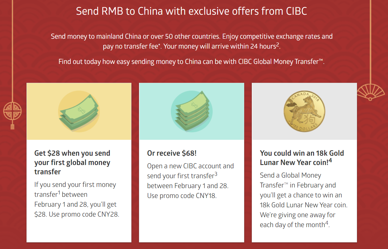 Deal Link Https Www Cibc En Special Offers No Fee Money Transfer China Html Expiry Feb 28 2018