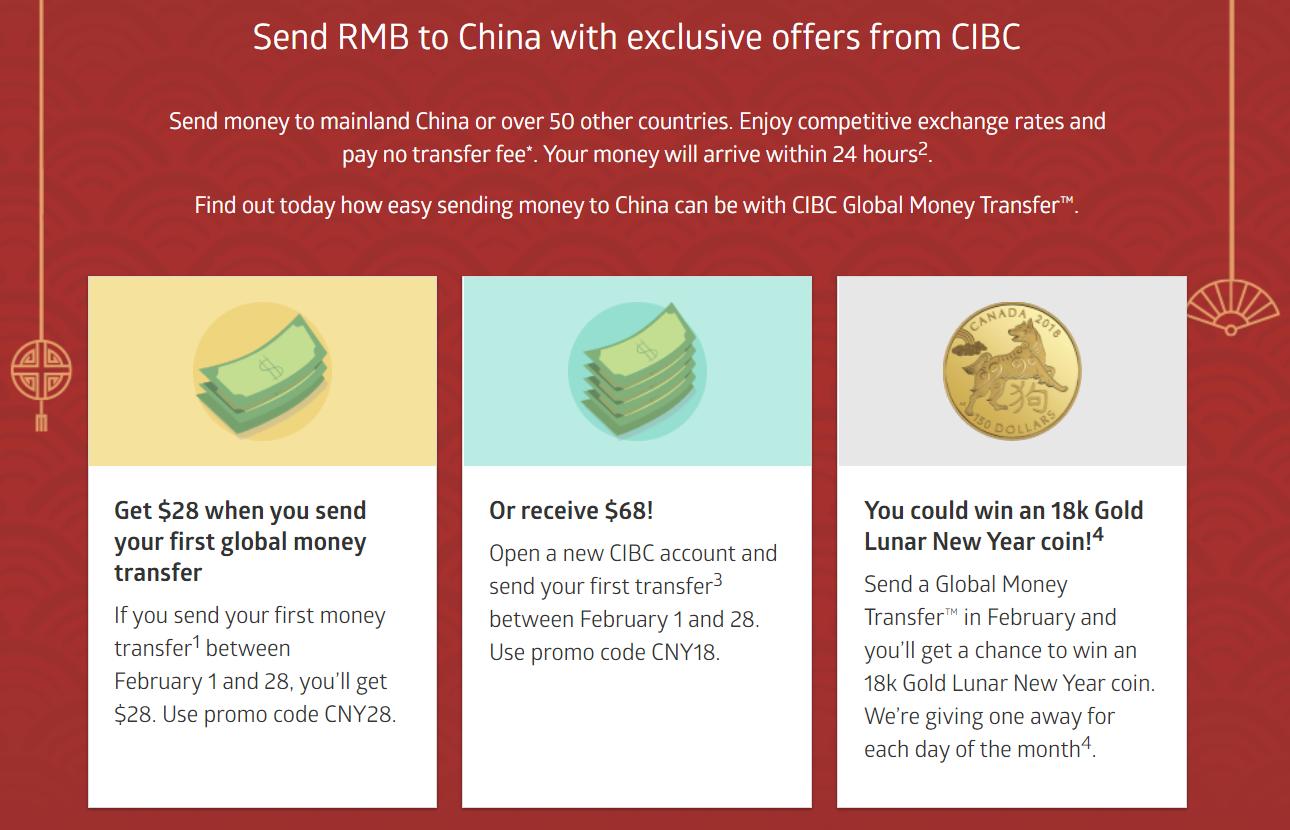 Canadian Rewards: CIBC: Send RMB to China