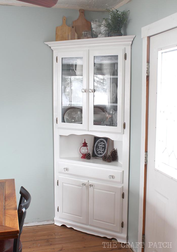 Corner Hutch Furniture Makeover The Craft Patch