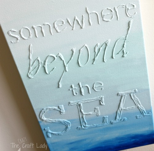 Lovely Bedrooms DIY Wall Art Make sea quote canvas art with glue This creative technique gives your canvas art a distinct look And it us super easy to do