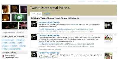 Tweet berita paranormal Indonesia