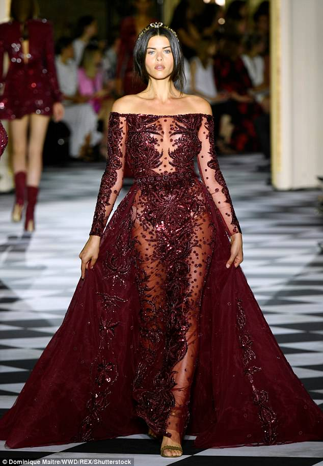 Georgia Fowler Zuhair Murad fashion show in Paris