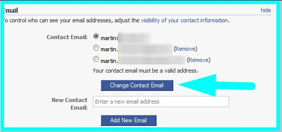 how to change email on facebook and delete old one