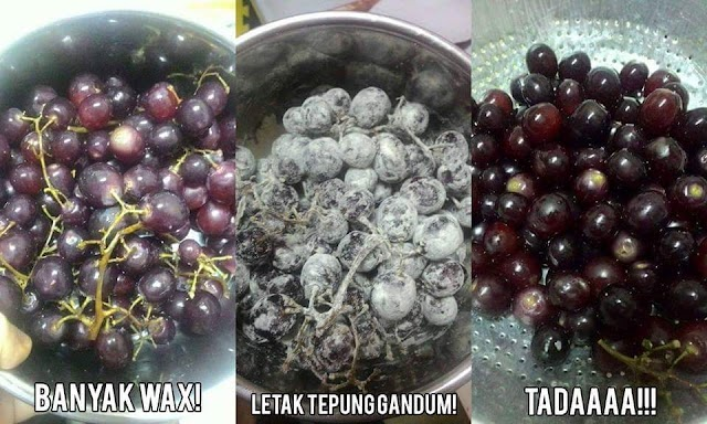 Cara Mudah Basuh Anggur