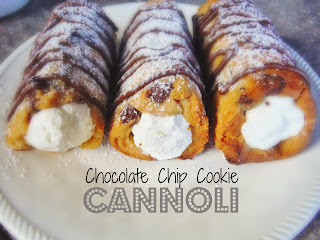 Chocolate Chip Cookie Cannoli from King's Bakery and Cooking