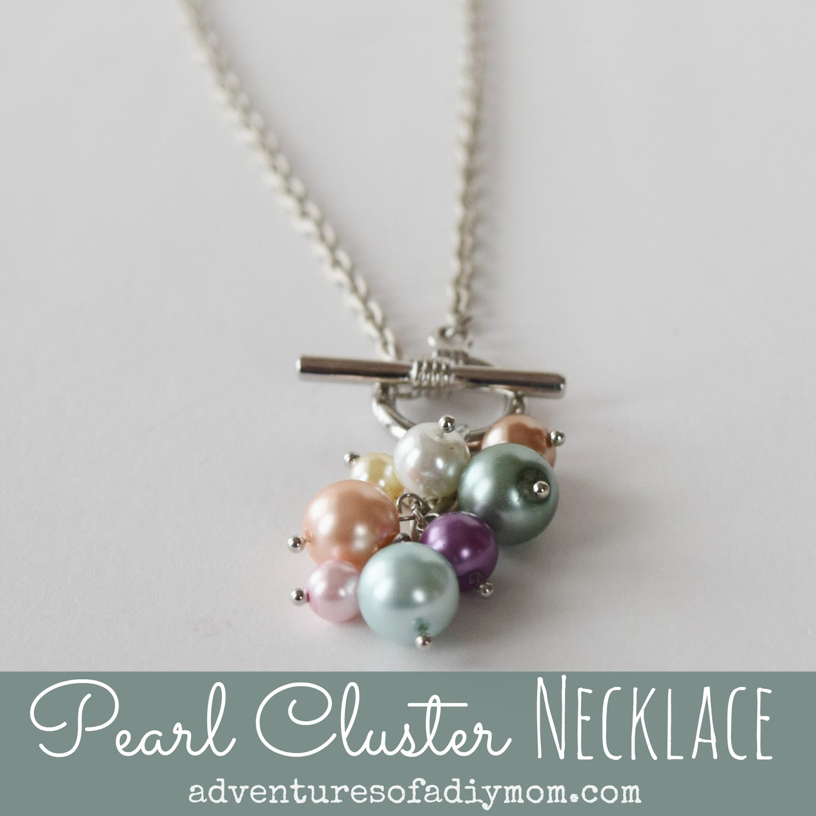 DIY Pearl Cluster Necklace Tutorial
