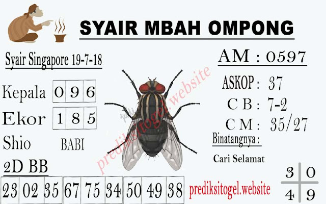 Code Syair SGP 19-07-2018