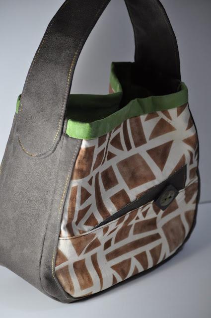 hand printed, handmade bag by melforrest