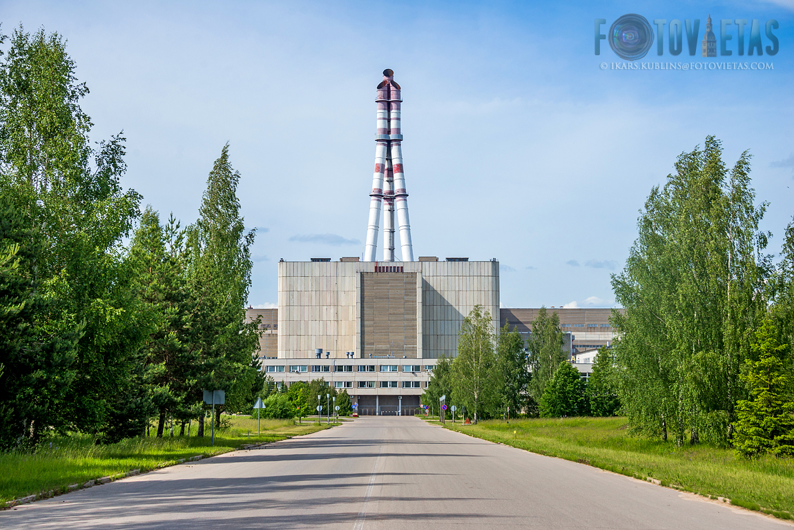 Ignalina nuclear power plant close to Visaginas town in Lithuania