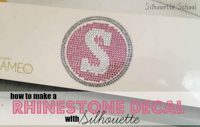 Silhouette Cameo, rhinestone decal, DIY, do it yourself