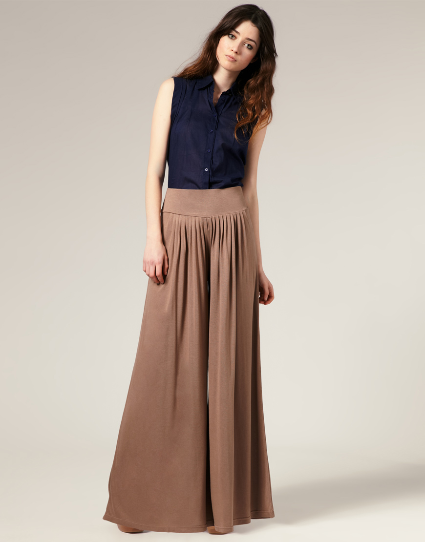 Palazzo pants are huge for spring/summer 2012